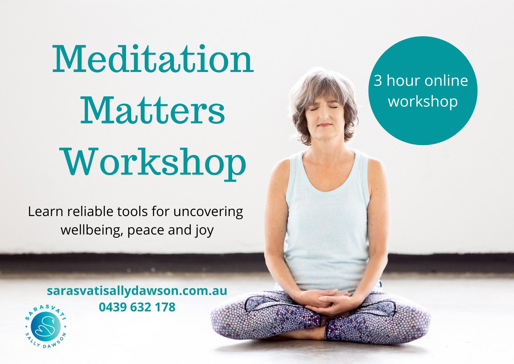 Meditation Matters Learn to Meditate Workshop